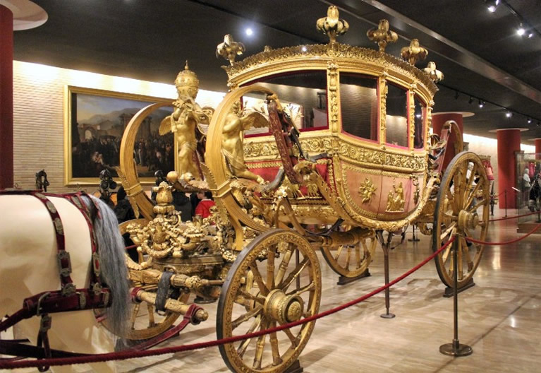 Carriages pavilion Vatican Museums in Rome