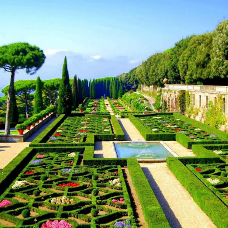 A view of the Pontifical Gardens near Rome