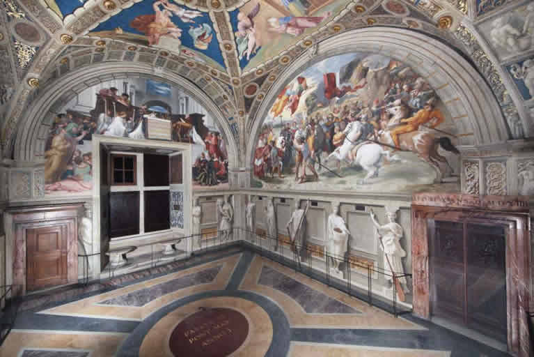 The Room of Heliodorus frescoed by Raphael in the Vatican Museums