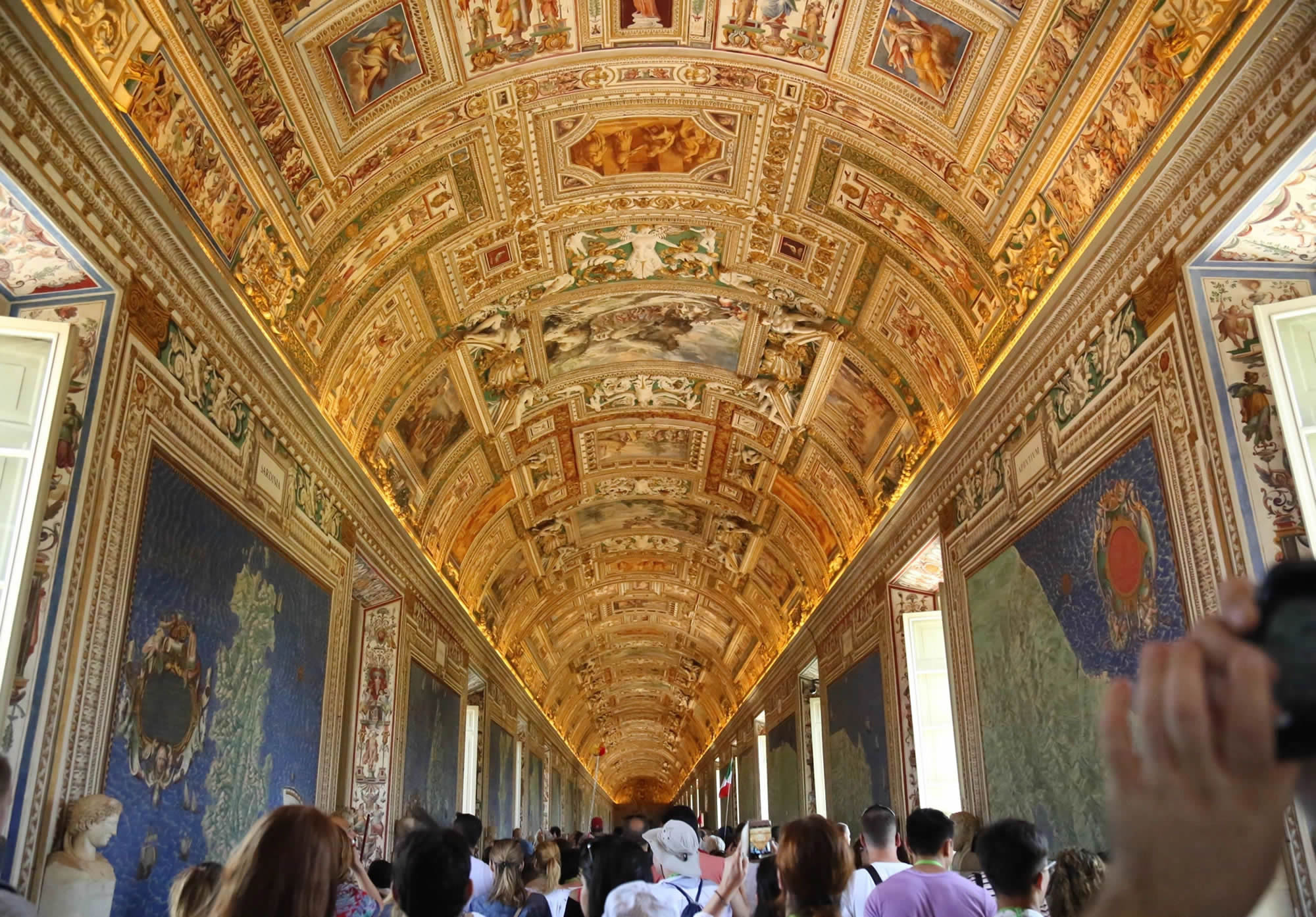 Vatican Gallery of Maps in Rome