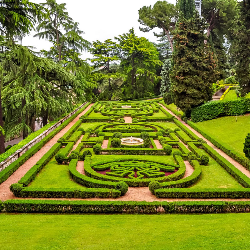 The gardens of the Vatican Museums in Rome